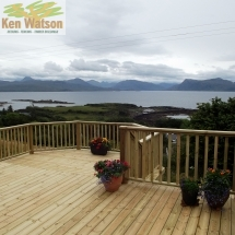 Decking in South Skye.
